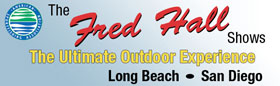 logo for long beach boat and fishing show