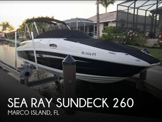 Used Boats: Sea Ray Sundeck 260 for sale